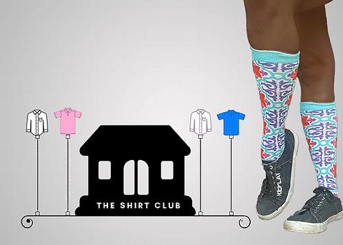 Neon Flowers Shirt Club Socks