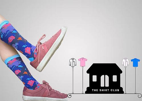Flower Power Shirt Club Sock