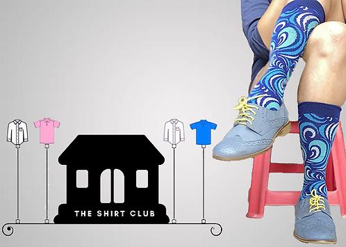 Wavy Waves Shirt Club Socks
