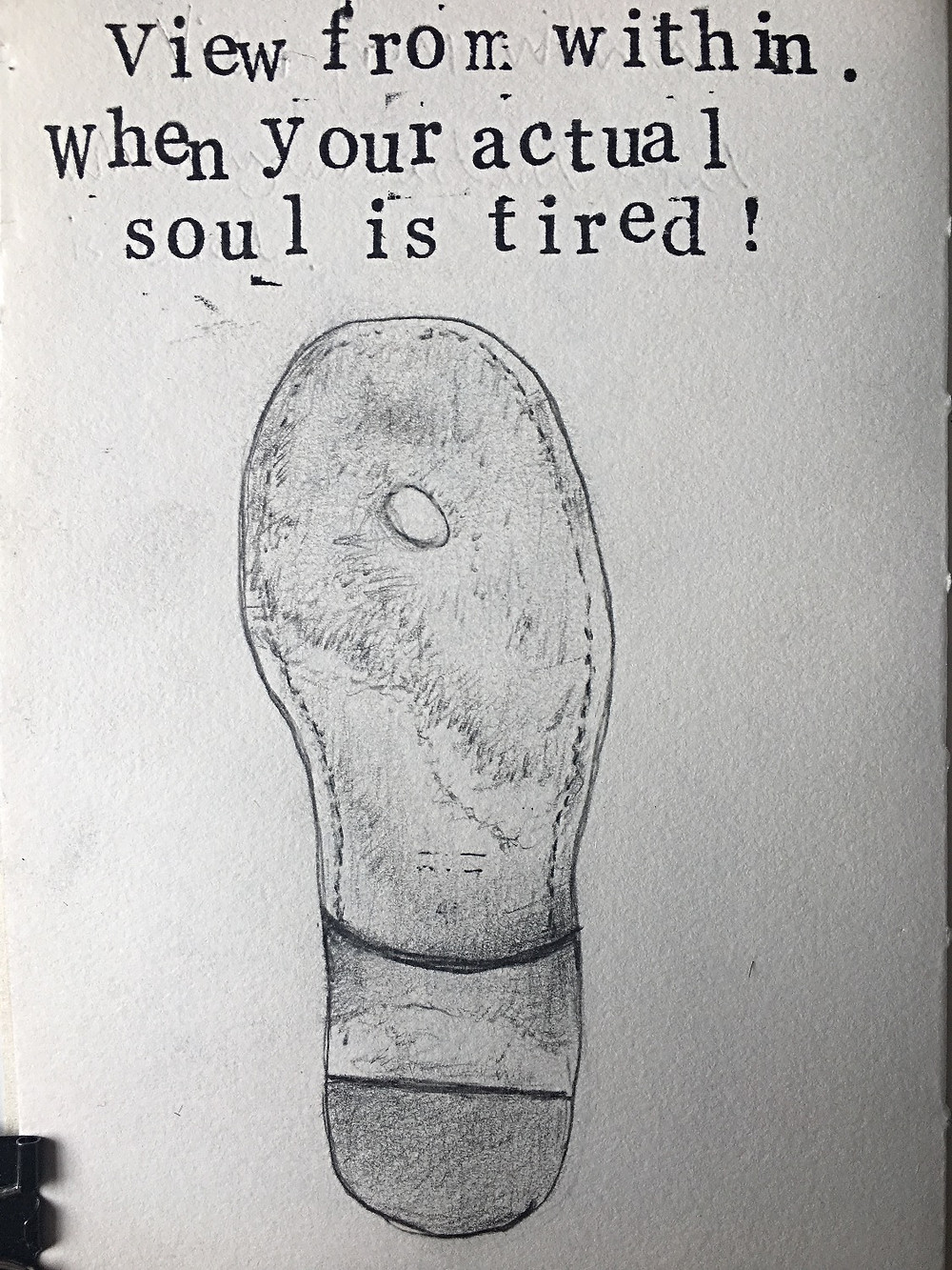 Drawing of soul/sole