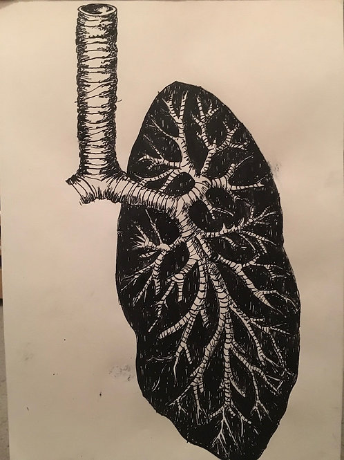 'Lungs' (2018) limited edition Giclee print