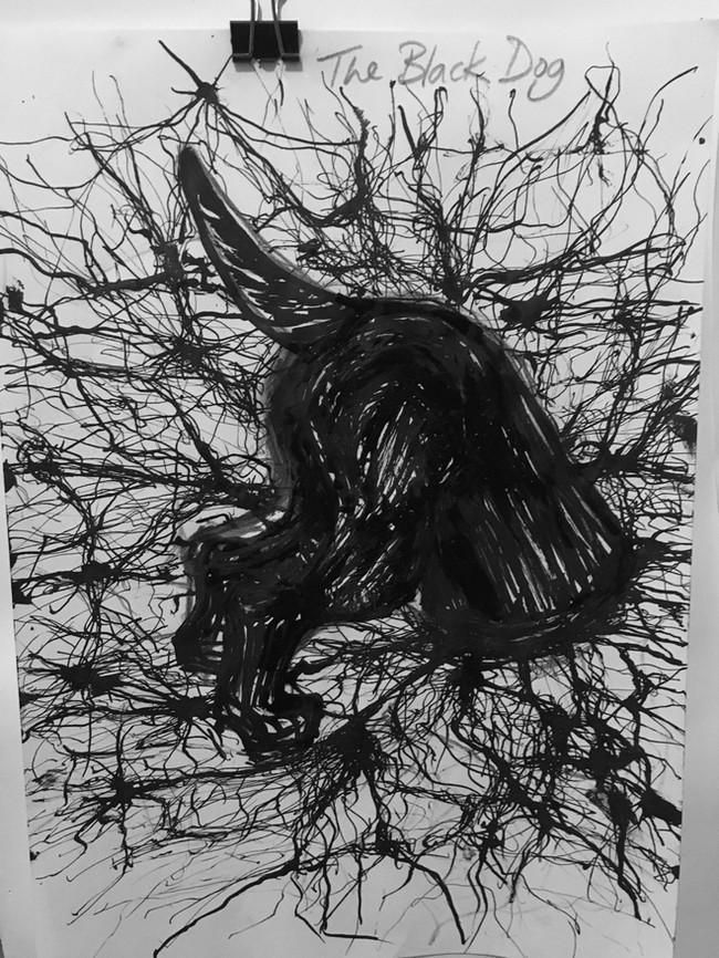 Study for 'The Black Dog' (2017)