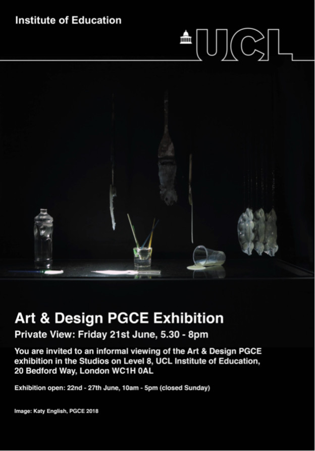 Exhibition invite image by Katie English