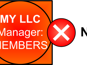 Member Managed LLC's are a Bad Idea