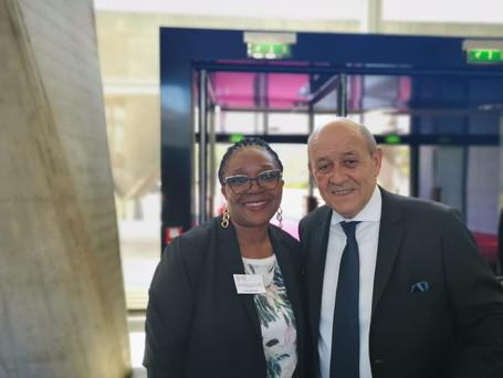 Motse Akanati & Jean Yves Le Drian