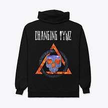Changing Tymz Light Skull Zip Hoodie #1back