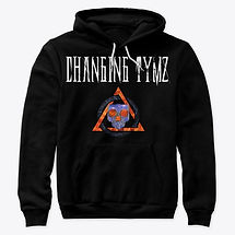 Changing Tymz Light Skull Pull Hoodie #1front