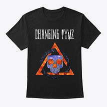 Changing Tymz Lightning Skull T-shirt #1front