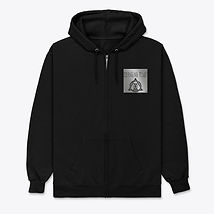 Changing Tymz Light Skull Zip Hoodie #1front