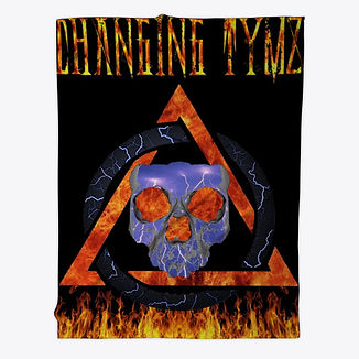 Changing Tymz Skull Fleece Blanket #2