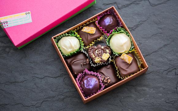 9-piece box of Thanksgiving bonbons