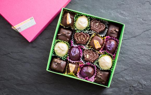 16-piece box of Thanksgiving bonbons
