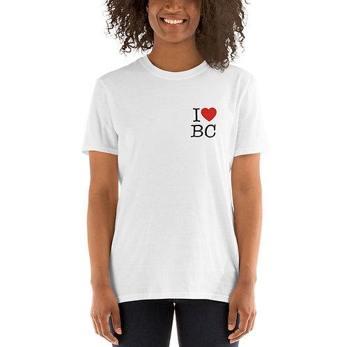 I Love BC Short-Sleeve Unisex T-Shirt White