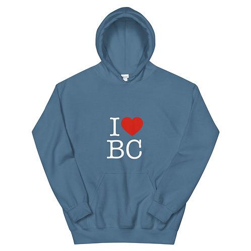 I Love BC Unisex Hoodie