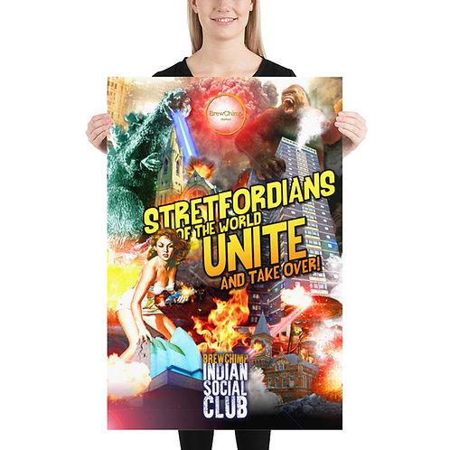 Stretfordians Of The World Unite Poster