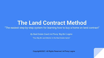 The Land Contract Method - How To Buy A