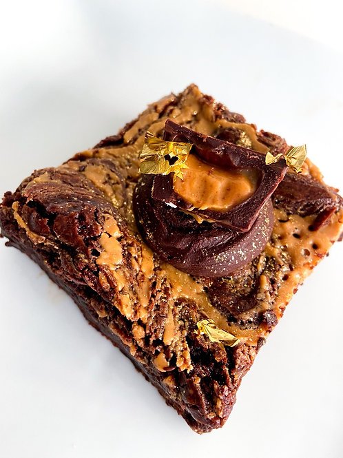 3 Chocolate Peanut Butter Cup Brownies