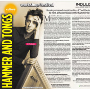 Interview in culture section of Hindu Express