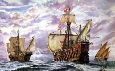 Três naus e um destino