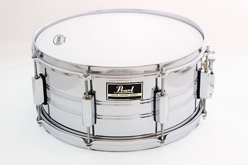 """Vintage Pearl 1980's Chrome 14"""" x 6.5"""" Snare Drum"""