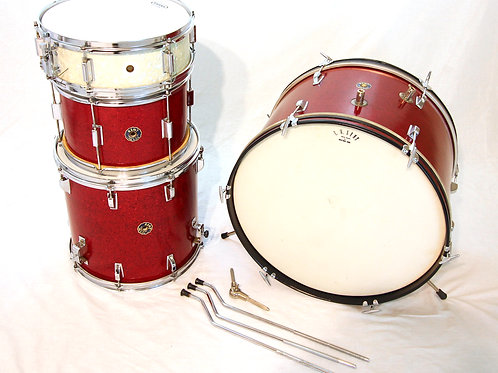 Kent 1960's Red Sparkle 4 Piece Shell Pack with Hardware