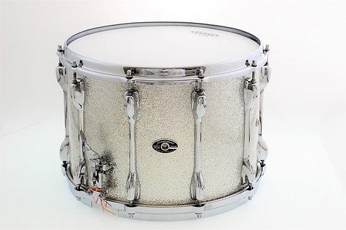 """Vintage 1970's Slingerland Silver Sparkle 14"""" x 10"""" Snare Drum"""