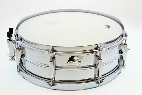 "Ludwig Chrome over Steel 14"" x 5"" Snare Drum"