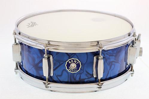 Vintage Kent Blue Mother of Pearl Snare Drum