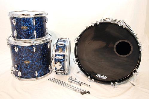 MIJ 1960's Vintage Prestige Aqua Blue Pearl 4 Piece Drum Set