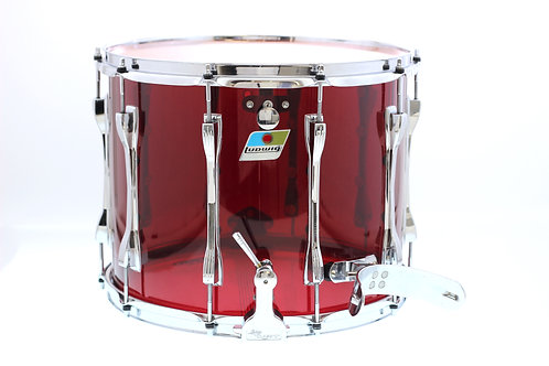 "1970""s Ludwig Red Vistalite 15"" x 12"" Marching Snare Drum"