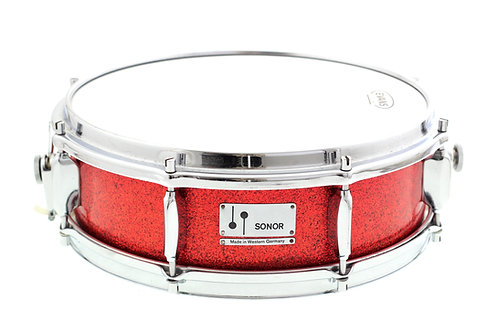 """Vintage Sonor Beechwood Red Sparkle 14"""" x 5"""" Snare Drum"""