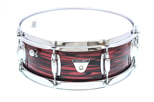 "Vintage 14"" x 5"" Ludwig Standard Ruby Strata Snare Drum"