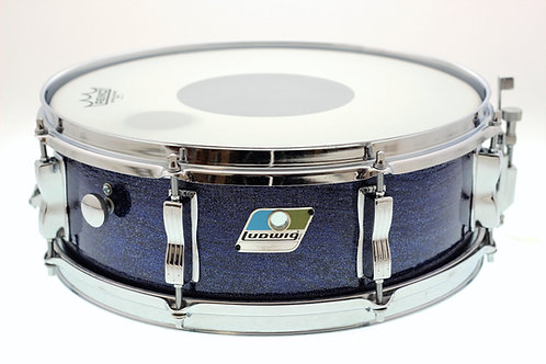 "Ludwig Blue/Olive Badge 14"" x 5"" Custom Blue Sparkle Snare Drum"