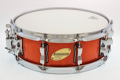"Ludwig Accent CS ""Custom"" Amber Stain 14"" x 5"" Snare Drum"