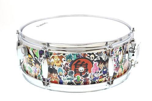 "Custom/Hybrid NARD Dragon Ball Z ""Sticker Bomb 14"" x 5"" Snare Drum"