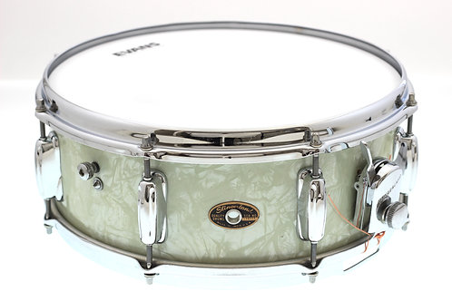 "Vintage 1960""s 14"" x 5.5"" Slingerland White Marine Pearl Snare Drum"