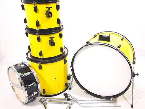 """Custom CB Student Model """"Bumble Bee"""" Drum Set with Snare Drum"""