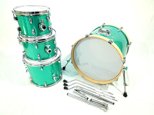 "PDP/Ddrum Custom Hybrid 4 Piece Green ""Hallo-Prismatic Glitter"" (Shell Pack)"