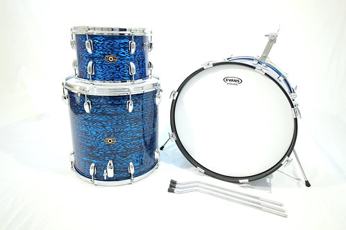 Slingerland 1960's Blue Agate 3 Piece Drum Set (Shell Pack)