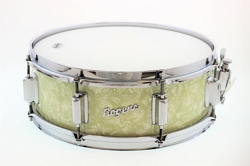 "Vintage Rogers Tower White Marine Pearl 14"" x 5"" Snare Drum"