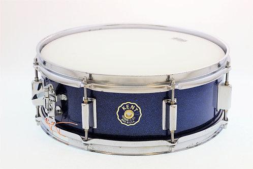 Vintage Kent 1960's Blue Sparkle Snare Drum