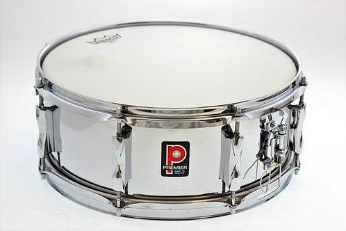 """Vintage Premier Chrome 14"""" x 5.5"""" Snare Drum"""