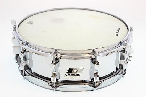 "Ludwig Chrome 10 Lug 14"" x 5"" Snare Drum"