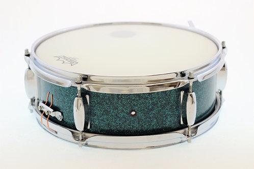 "Vintage 1960's 13"" x 4"" Turquoise MIJ Snare Drum"