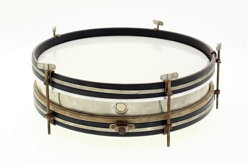 """Vintage Ludwig """"Hand Rolled"""" Tin Snare Drum"""