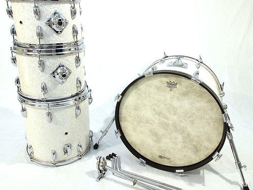 1960's Slingerland White Marine Pearl 4 Piece Drum Set (Shell Pack)