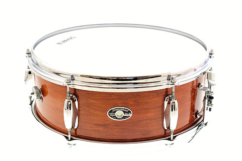 """Slingerland 1970's 14""""x 5.5"""" Natural Mahogany Stain Snare Drum"""