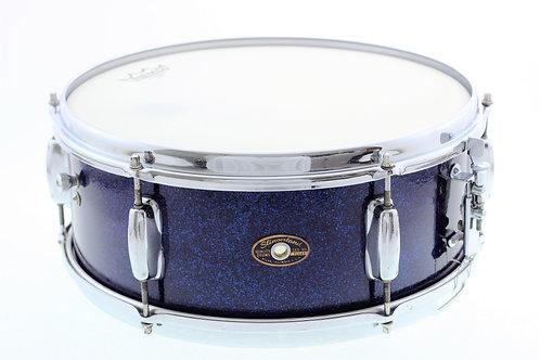 """Vintage 1965 Slingerland Blue Sparkle 14"""" x 5.5"""" Snare Drum"""