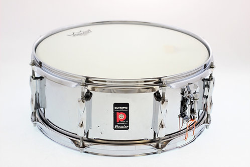 "Vintage Premier Olympic Chrome 14"" x 5.5"" Snare Drum"