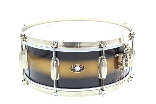 """Vintage 1950's Slingerland Duco Black & Gold 14"""" x 6"""" Snare Drum"""